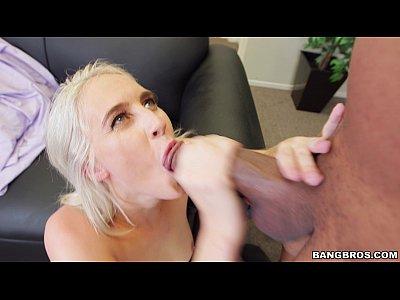 Small Blonde Gets Served Big Black Monster Cock