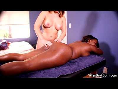 Masturbation Massage Ebony video: BP145-Lesbian Massage: Harmonie Marquise Interracial