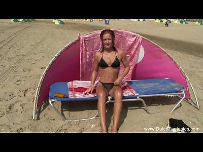 Futai Pe Plaja Cu O Curva Care Se Roaga Sa Fie Fututa