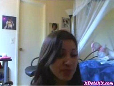 3 chicks strip on webcam