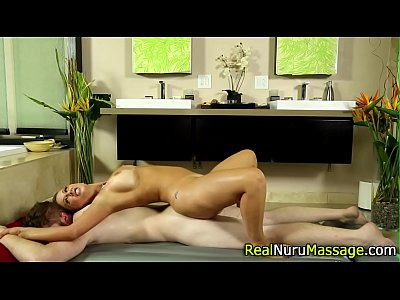 Pretty masseuse fucking