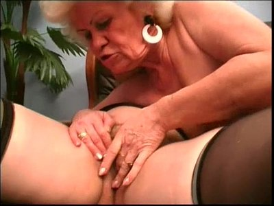 Hairy Hardcore Stockings video: Lesbian Moms