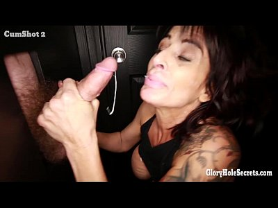 Mature Swallow Gloryhole video: Gloryhole Secrets mature woman gets more cum than she