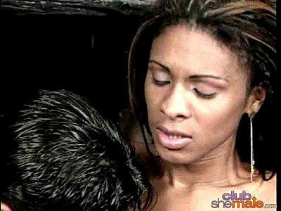 Hot Brazilian tranny gets poked hard