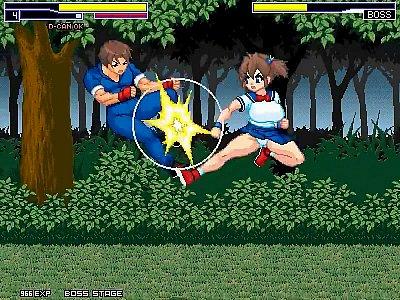 【エロアニメ】爆乳ボインな制服格闘ヒロインが敵を倒しつつ犯されながらパイズリ手コキ