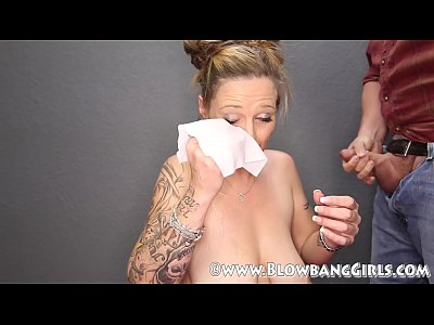 Cumshots Blonde video: MILF Blowbang Cum Dislike Big Time