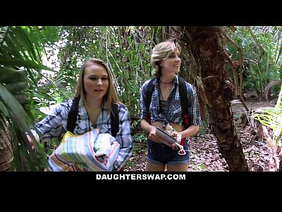 Group Shaved Brunette vid: DaughterSwap- Horny Daughters Fuck Dads on Camping Trip