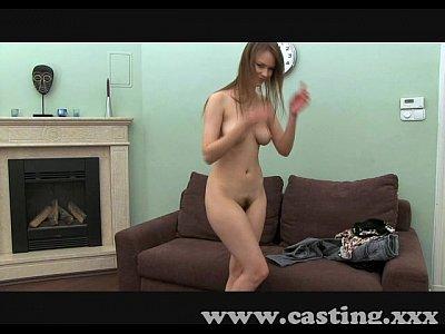 Casting Shy girl, hairy bush