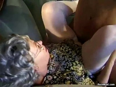 Hairy Stockings Mature video: Granny fuck