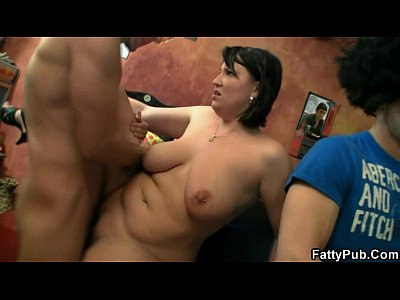 Bigtitsparty Bbwbar Bbwclub video: Sexy plumper blows and fucks his horny cock