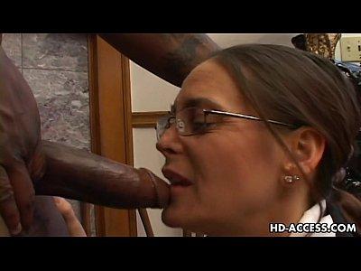 Experienced cheyenne hunter milks a bbc dry 4