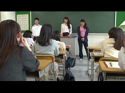 男子生徒が痴女教師にエロ行為を受けて女生徒にも悪戯され学級崩壊