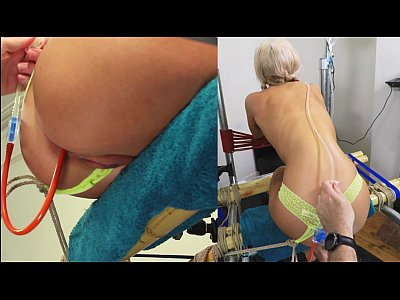 Blonde Cute Panties video: Panty Enema