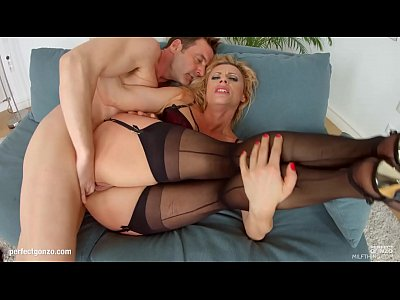 Mature Swallow Cum video: Mature hottie Brittany Bardot hardcore gonzo scene on Milf Thing