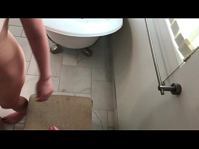 Bathroom Blonde Dirtytalk video: Sex with my Stepbrother