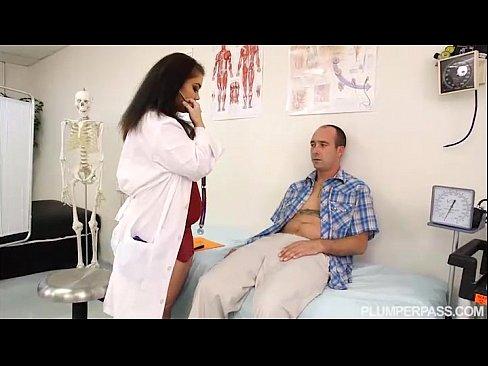 Busty BBW Doctor Lisa Canon Feels Up Huge Cock