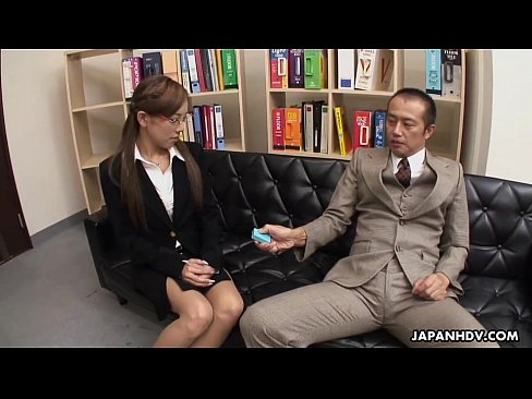 Lady Ramu sucking off her boss and foot fucks him