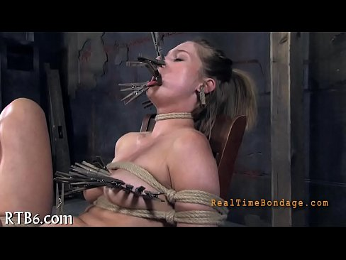 Bondage pain movie clips begging licked