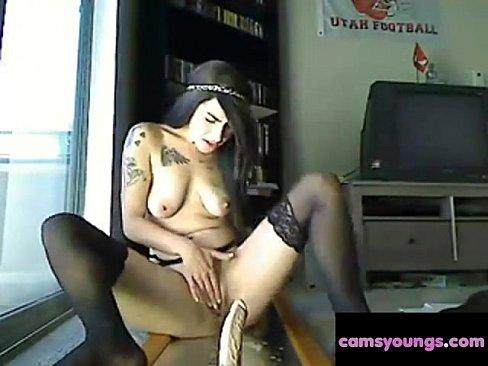 naked emo girl with dildo