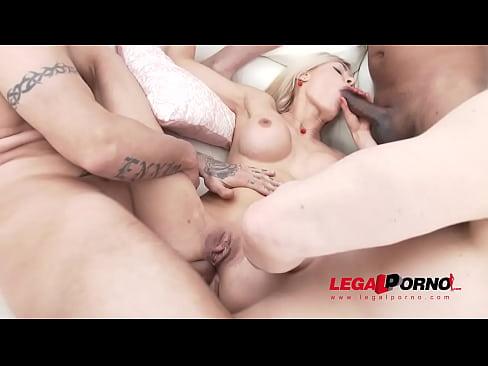 Exotic Slut Kitana Lure vs 3 Monster Cocks, no holes barred fuck session!!