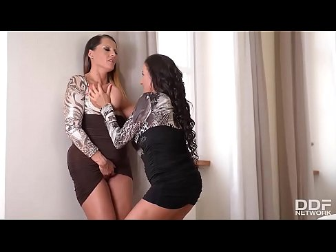 Busty Affair - Luxury Lesbian Coworkers cum with Magic Wand