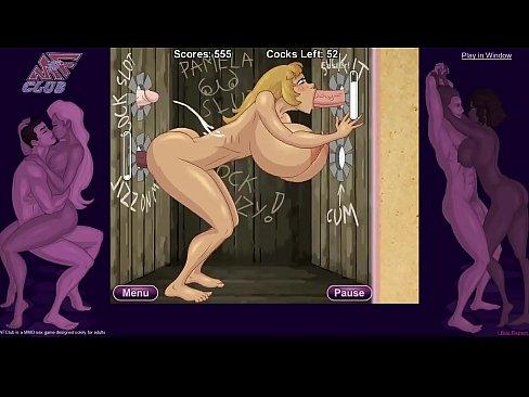 Desen Animat Cu O Blonda Super Buna Care O Suge Din Perete