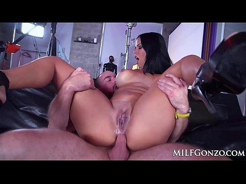 MILFGonzo Busty brunette Diamond Kitty taking it up the ass