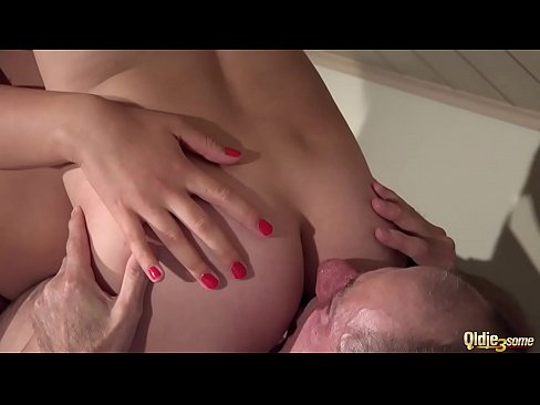 Big tits old young threesome grandpa fucks beau...