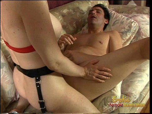 Busty redhead vixen really loves banging a horny dude's gaping butthole