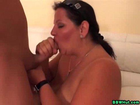 Huge Tits BBW MILF Sucks Cock And Gets Fucked
