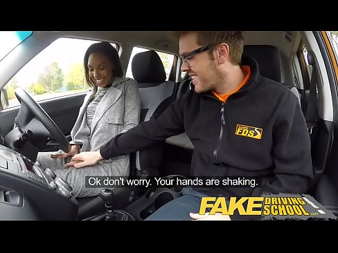 Fake Driving School creampie teen ebony threeso...