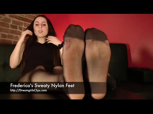 Frederica&#039_s Sweaty Nylon Feet - www.clips4sale.com/8983/15683468