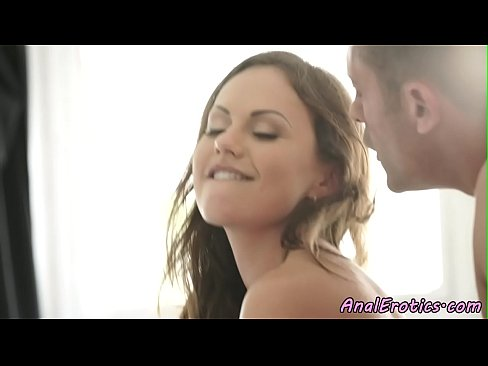Beauty doggystyle analfucked and jizzed on ass