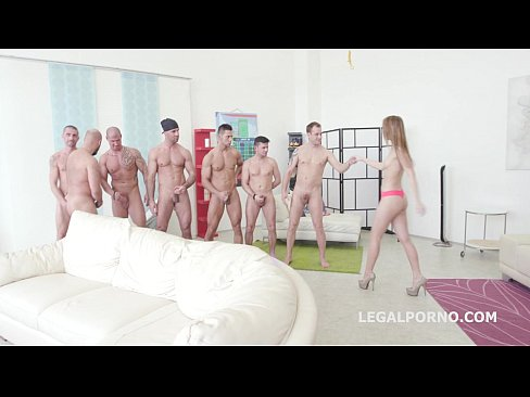 Kira Thorn first 7on1 Double Anal GangBang - Ac...