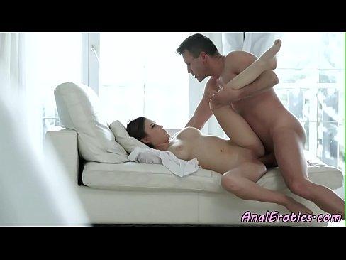 Gorgeous assfucked eurobabe enjoys hard cock