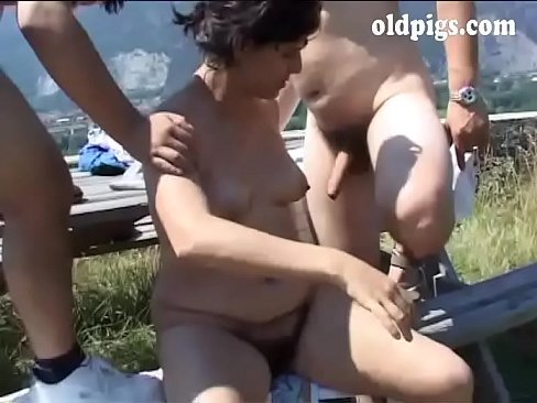 Hiker mature couple fucking outdoor