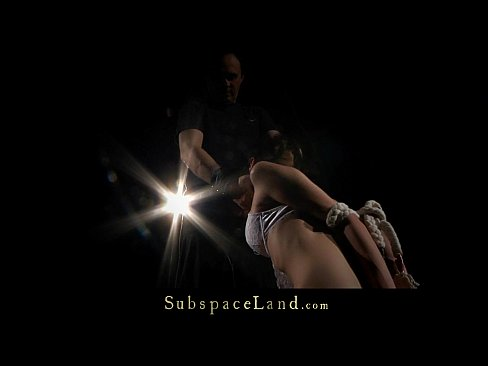 Young whore roughly punished in sub