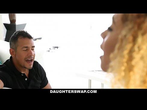 DaughterSwap - Hot Ebony Teens Fucked For Disob...