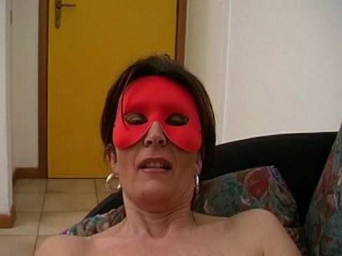 Sensual and hot amateur milf in mask jerking off her pussy