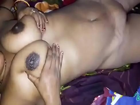 Horny Desi big boobs wife give handjob  n hard nip press