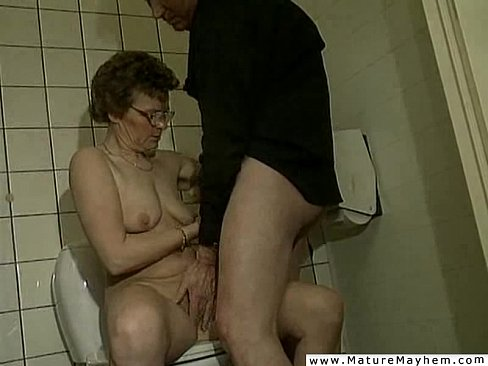 A really old dirty granny performing a jawbreaking blowjob ...