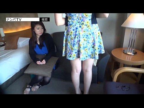 【熟女・人妻の3P・乱交動画】ギャルのフェラH無料動画。今風のギャル2人組をナンパしてホテルに!ダブルフェラチオや3PSEXを堪能
