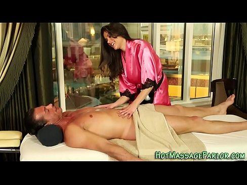 Lingerie masseuse cumshot