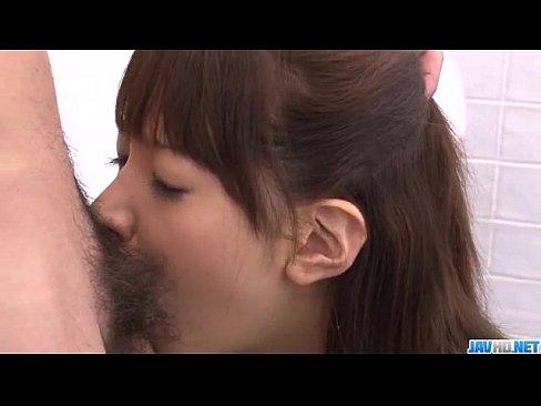 Buruma Aoi cock sucking teen gets cum on her tits