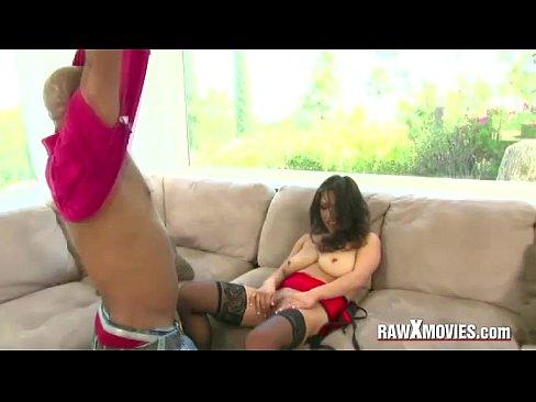 Asian Licks Her DD Tits