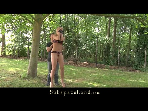 Blonde slave girls punished and fucked get cum poured in mouth