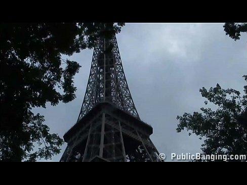 Eiffel Tower extreme PUBLIC sex threesome orgy