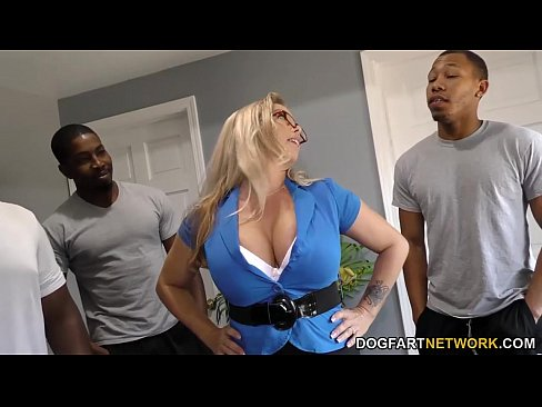 Amber Lynn Bach gets gangbanged and creampied by BBCs