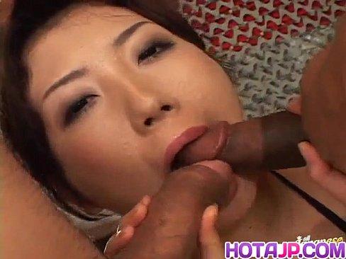 Hatsumi Kudo sucks boners and has cunt and asshole full of cum