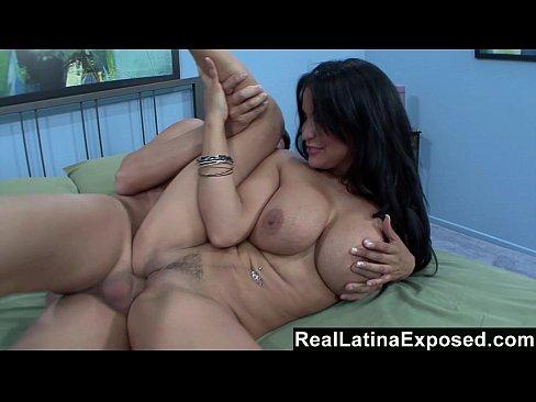 Reallatinaexposed sophia loves a big cock sliding between her big tits